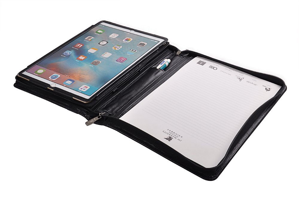 Deluxe Portfolio Case with Kickstand Holder and Handle for 12.9 inch iPad Pro