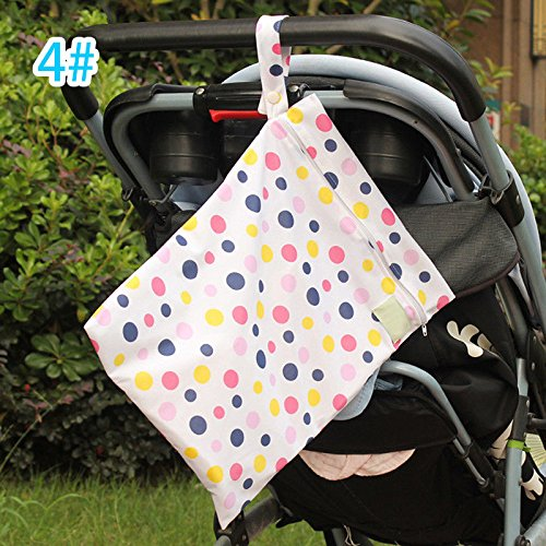 Waterfall Organizer Hutch (MIJORA-Nappy Dry Wet Cloth Bag Travel Organizer Diaper Baby Waterproof Storage Pouch(color:4#))