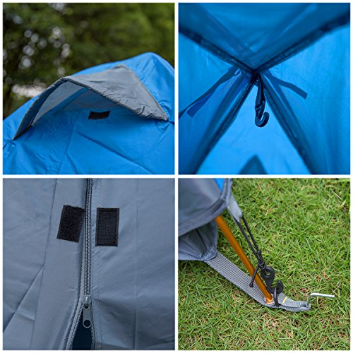 HollyHOME Manual/Automatic Backpacking Tent for C&ing with Carry Bag Double Layer 3 Seasons Lightweight and Water Resistant & HollyHOME Manual/Automatic Backpacking Tent for Camping with Carry ...