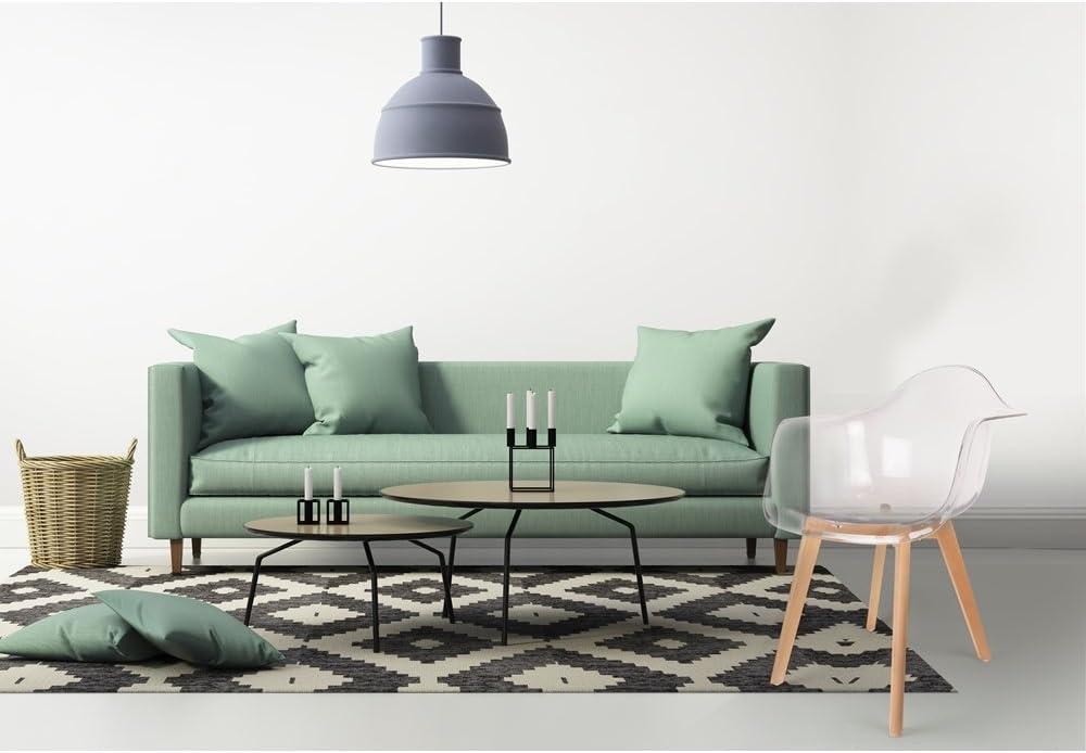 The Home Deco Factory hd3093/Set 2/Sessel Skandinavisches Holz//PP schwarz 62,80/x 59,80/x 85,30/cm