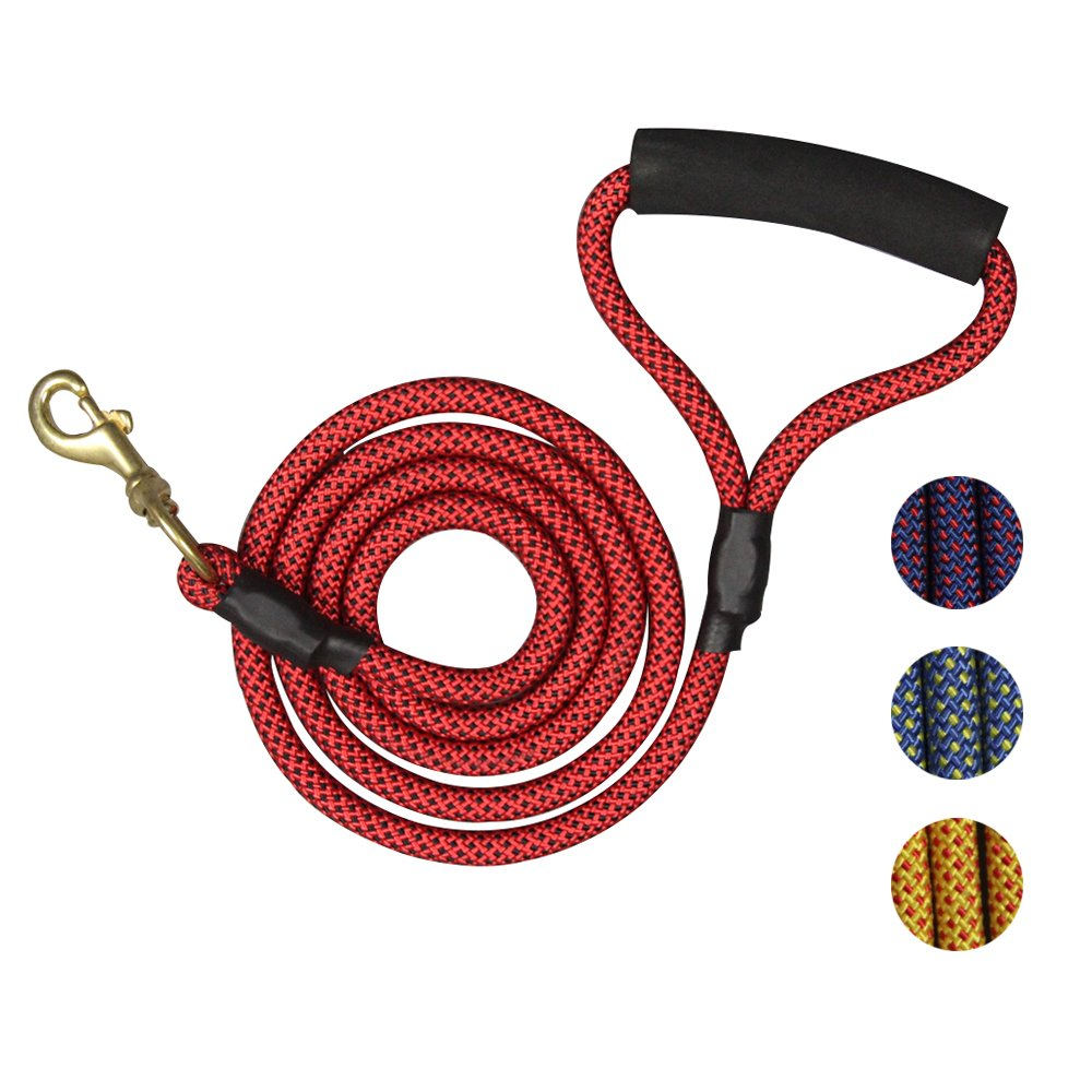 DIJOQU new dog chain 5 5 FET, strong climbing rope pet rope dog rope, pull  dog skin dog tied to pull on the rope, anti cracking rubber bottle gourd,