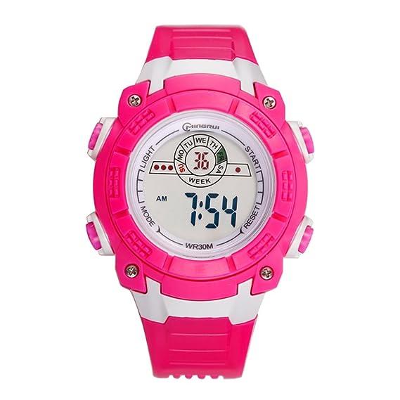 Los estudiantes ver/Reloj digital deportivo resistente al agua/Ven niños correr luminosos multifuncionales-G: Amazon.es: Relojes