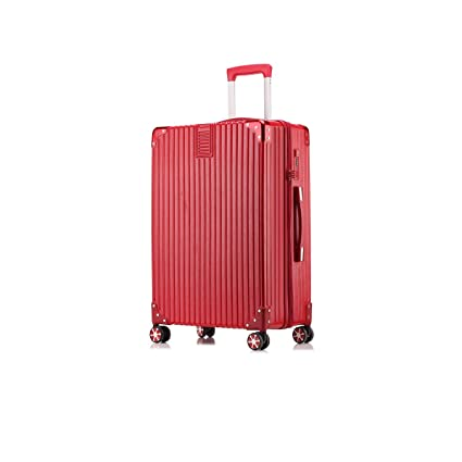 Fengkuo Luggage Trolley Trolley Universal Wheel Password Aluminum Alloy Frame Luggage Color Red Silver Black Size 35 23 55cm Material Aluminum Alloy Suitcase Color : Red
