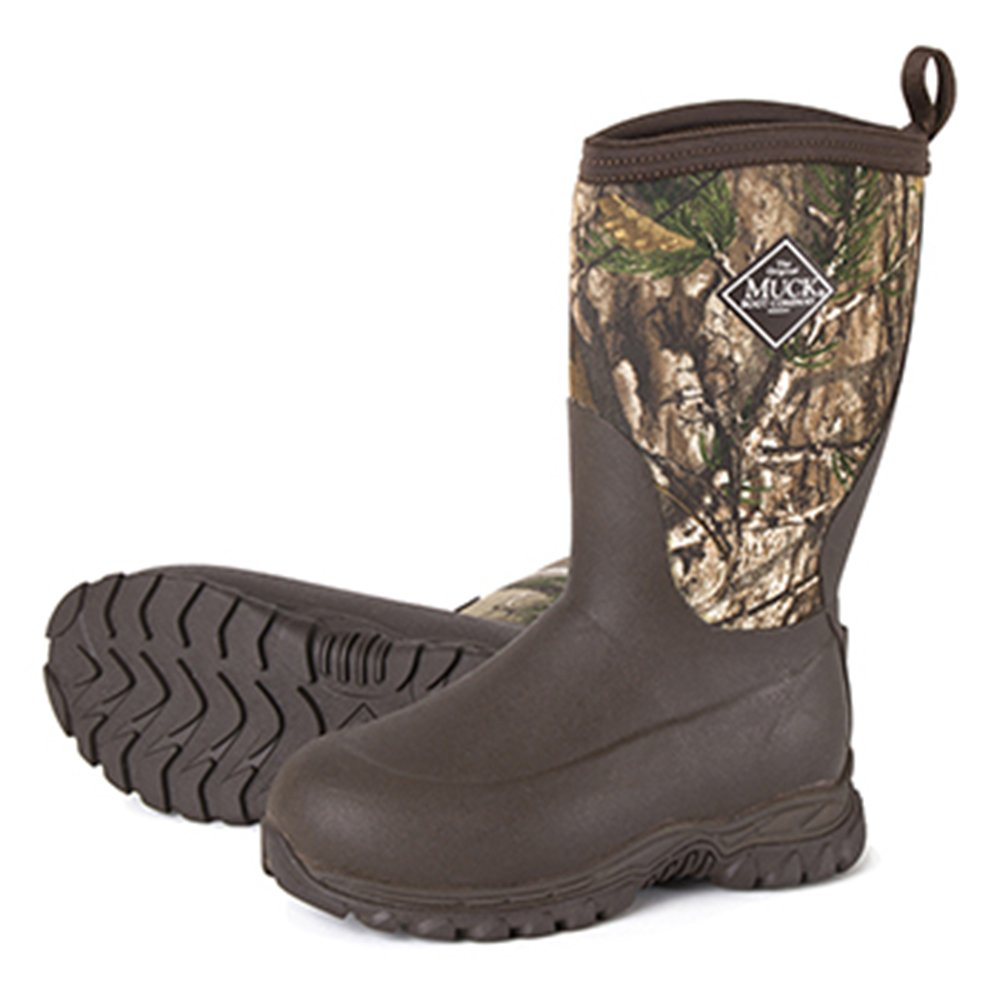 Muck Boot MuckBoots Kids' Rugged II Snow Boot, Brown/Realtree Xtra, 13 M US Little Kid