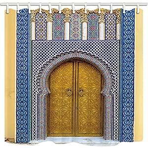 Rrfwq cortinas de ducha marroqu es para ba o marruecos - Telas marroquies ...