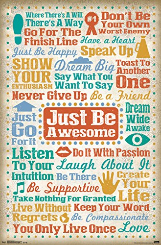 Trends International Just Be Awesome Wall Poster