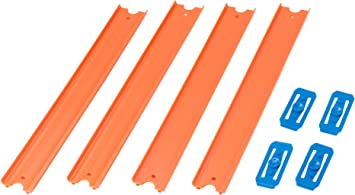 Hot Wheels Track Builder, Pack de 4 pistas rectas, accesorios para ...