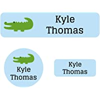 Name Bubbles Alligator Starter Labels Pack (90 Pack) Durable Printed Labels for Daycare, School, Travel, Baby Bottles…