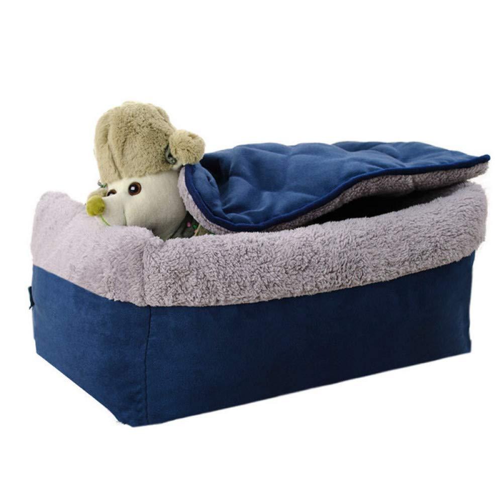 M WWSSXX Pet Dog Bed Warm Dog Sofa Bed Soft Puppy Blanket
