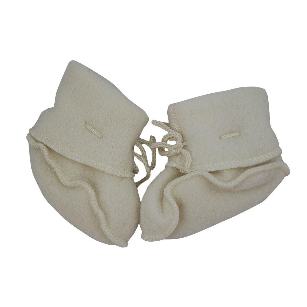 Engel 100% merino wool fleece booties baby newborn leg warmers socks 57 5582 (2, Natural beige) by Engel