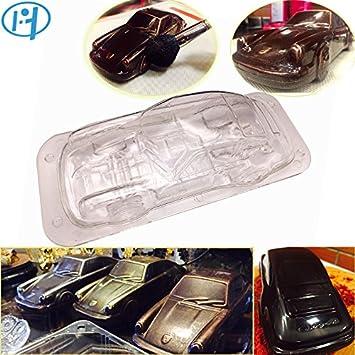 Molde de injeciton para tartas, diseño de coche, 3D, para hacer tartas de