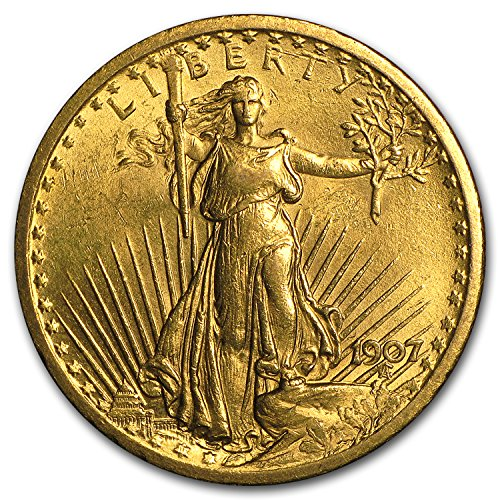 - 1907 $20 St. Gaudens Gold Double Eagle BU G$20 Brilliant Uncirculated