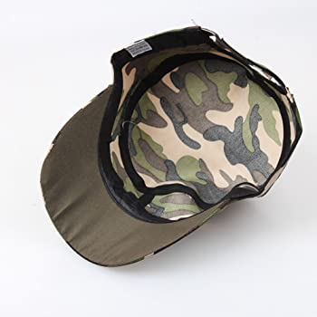 41d6275f19fc10 Mens Camouflage Military Cotton Hat Summer Army Peaked Dad Cap Adjustable  Distressed Washed Cadet Patrol Bush. Back. Double-tap to zoom