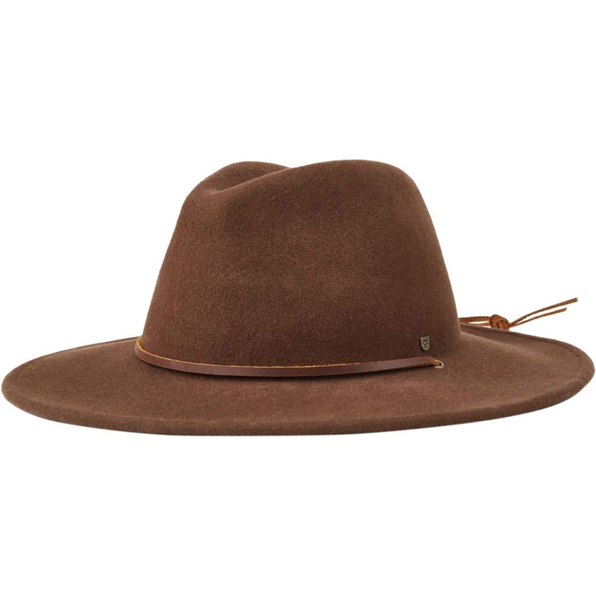 a0eb82a76401a Galleon - Brixton Men s Field Wide Brim Felt Fedora Hat