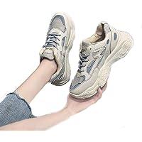Nchengtanru Womens Walking Running Shoes Reflective Fashion Sneakers Casual Shoes Off White Size 8