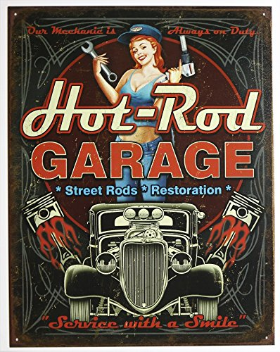 Hot Rod Garage - Pistons Tin Sign 13 x (Hot Rod Garage)