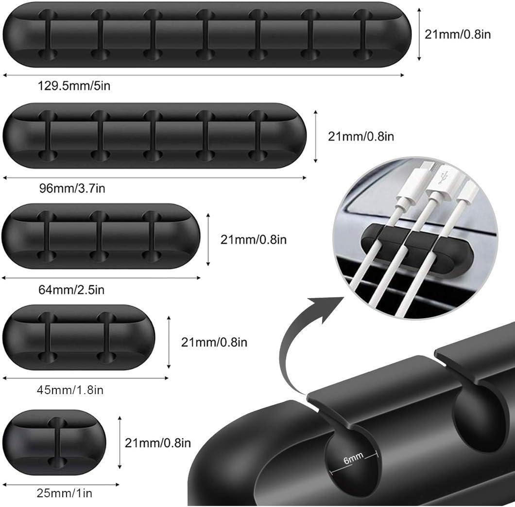 Port/átil Pc 5 Piezas Autoadhesivo Clips de Cable Gestiona Los Soporte de Cable de Alimentaci/ón de Tv Sistema Gesti/ón de Cables Organizadores de Cable Reutilizables Organizador de Cables
