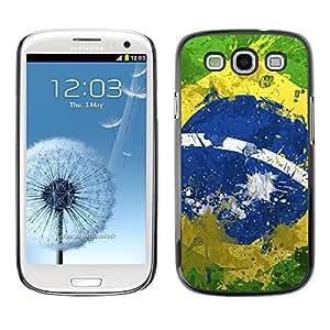 Slim Design Hard PC/Aluminum Shell Case Cover for Samsung Galaxy S3 I9300 Vintage Brazil Flag; / JUSTGO PHONE PROTECTOR