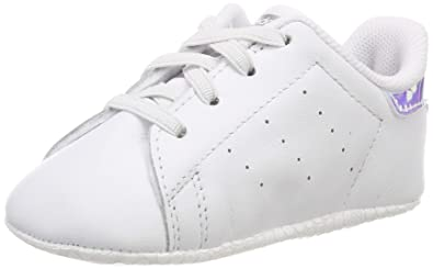 on sale e4dd5 c141a adidas Unisex Babies  Stan Smith Crib Gymnastics Shoes, FTWR White Silver  Met,