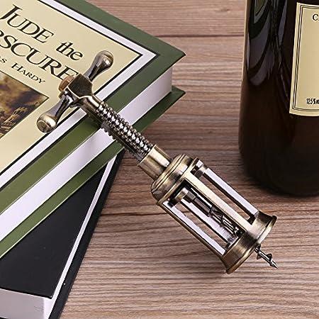 Abrebotellas de Vino,ASHATA Abrebotellas Sacacorchos Abridor de Botellas para Tirar o Retirar el Corcho del Vino Tinto para Party,Fiestas,Bar,etc.