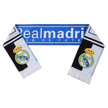 Amazon.com: Bufanda UHBHEA Real Madrid FC de doble cara con ...