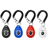 Dog Training Clicker, [2017 NEW UPGRADE version] 4 Pack Pet Training Clicker with Wrist Strap by Grealthy