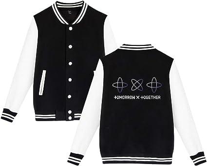 Xkpopfans Kpop TXT Baseball Jacket Soobin Kai Yeonjun Beomkyu Taehyun Hoodie Coat