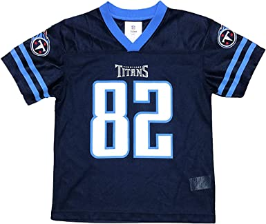 Amazon.com: Delanie Walker Tennessee Titans Navy Blue Youth Player ...