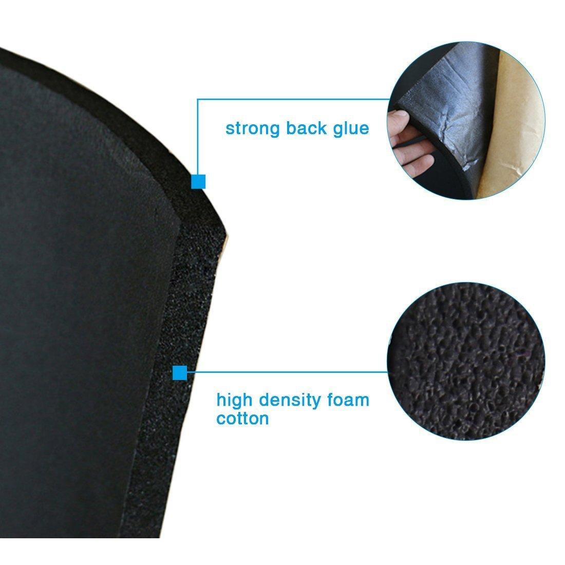 SOOMJ 10mm/394mil Cell Foam Sound Proofing Insulation Deadener Mat (15.7''x39.4'' Cell Foam)