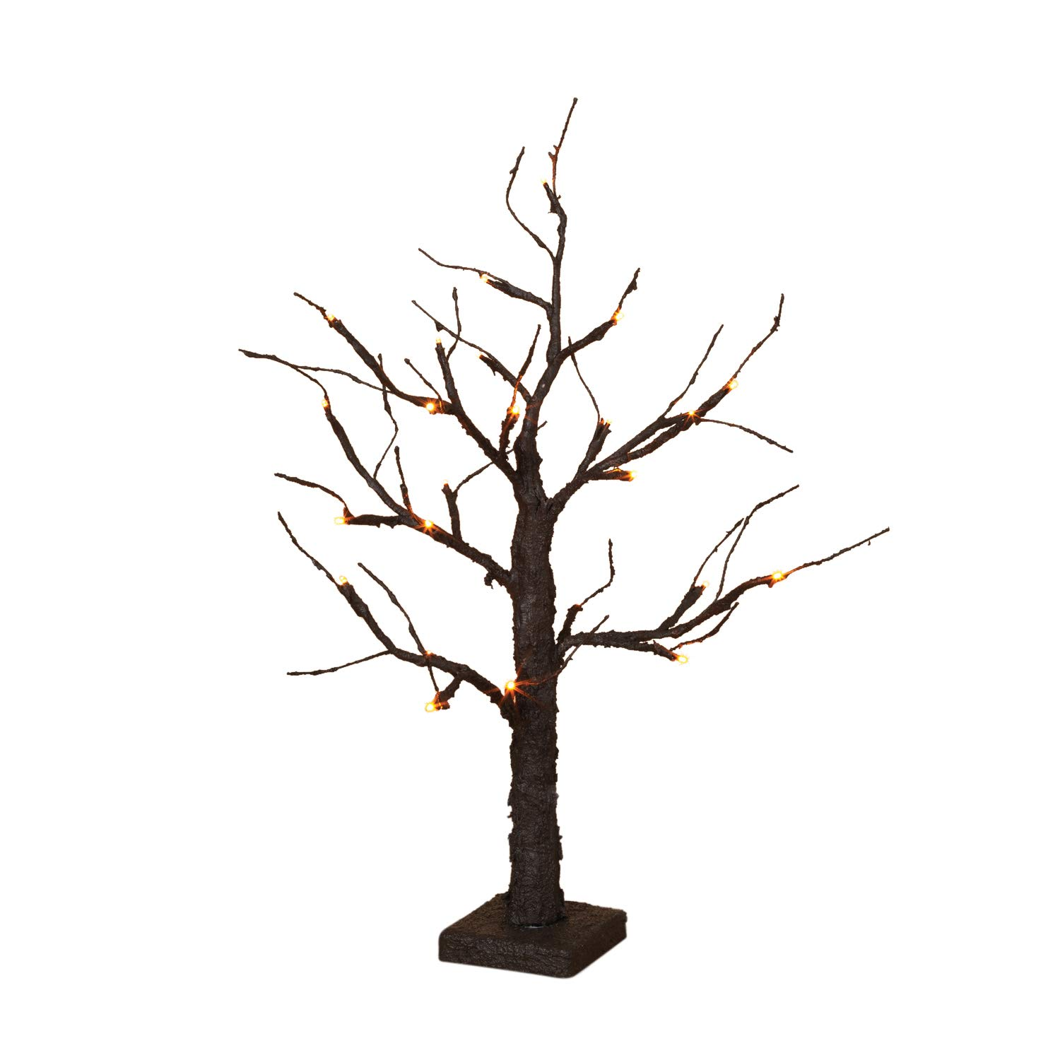 Spooky Halloween Tree 24'' Table Top LED Battery Op Figurine New in Box