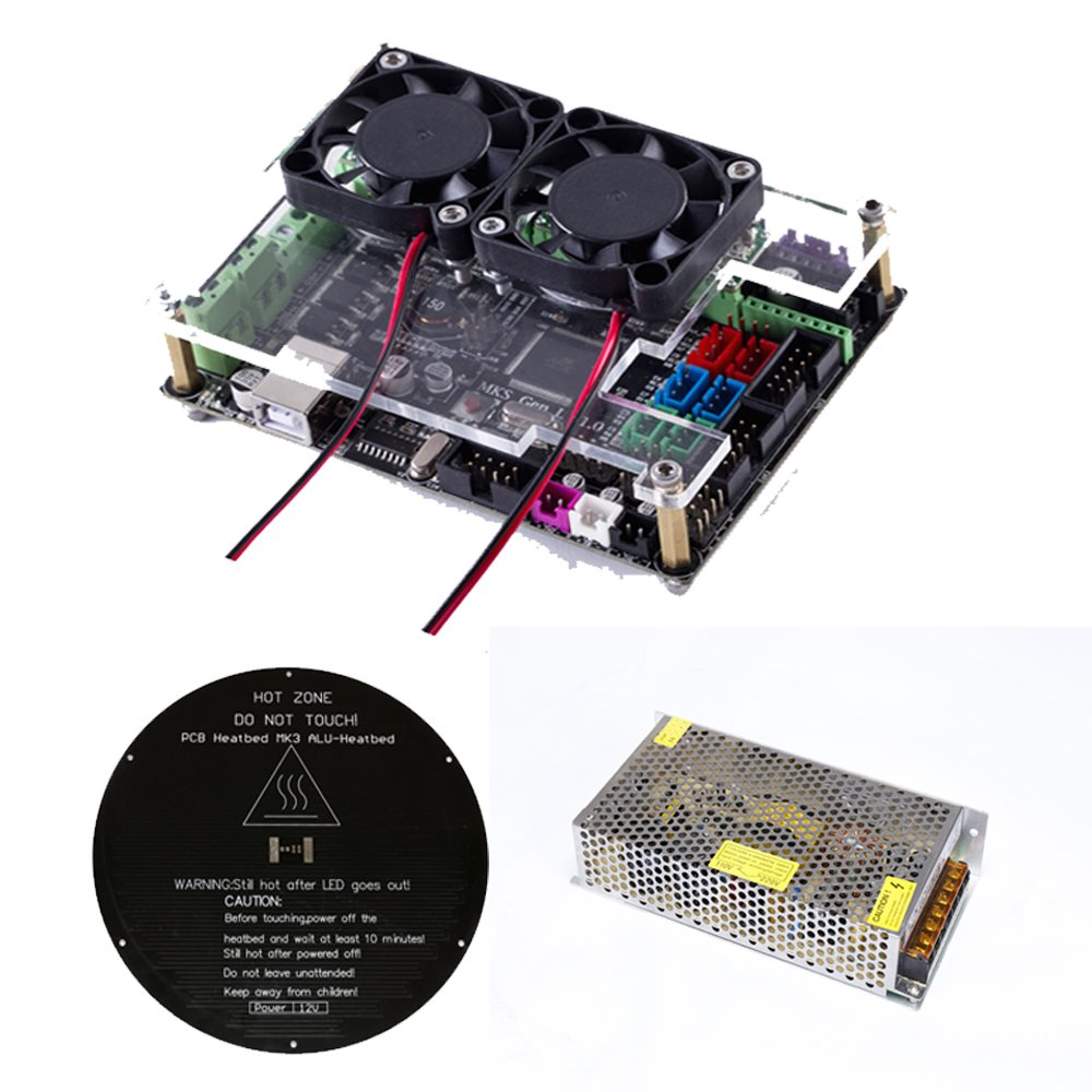Flsun 3d Printer Delta Kossel Diy Kit With Large Printing Size Top View Of The Completed Circuit Board Waiting To Be Mounted On Updated Nuzzle System Heated Bed Auto Leveling Industrial Scientific