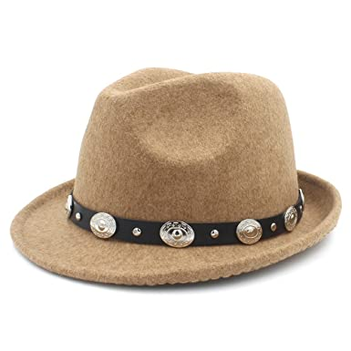 55137809a31 XIANGBAO-Hat for Winter Autumn Elegant Lady Dad Trilby Homburg Church Jazz  Caps with Punk