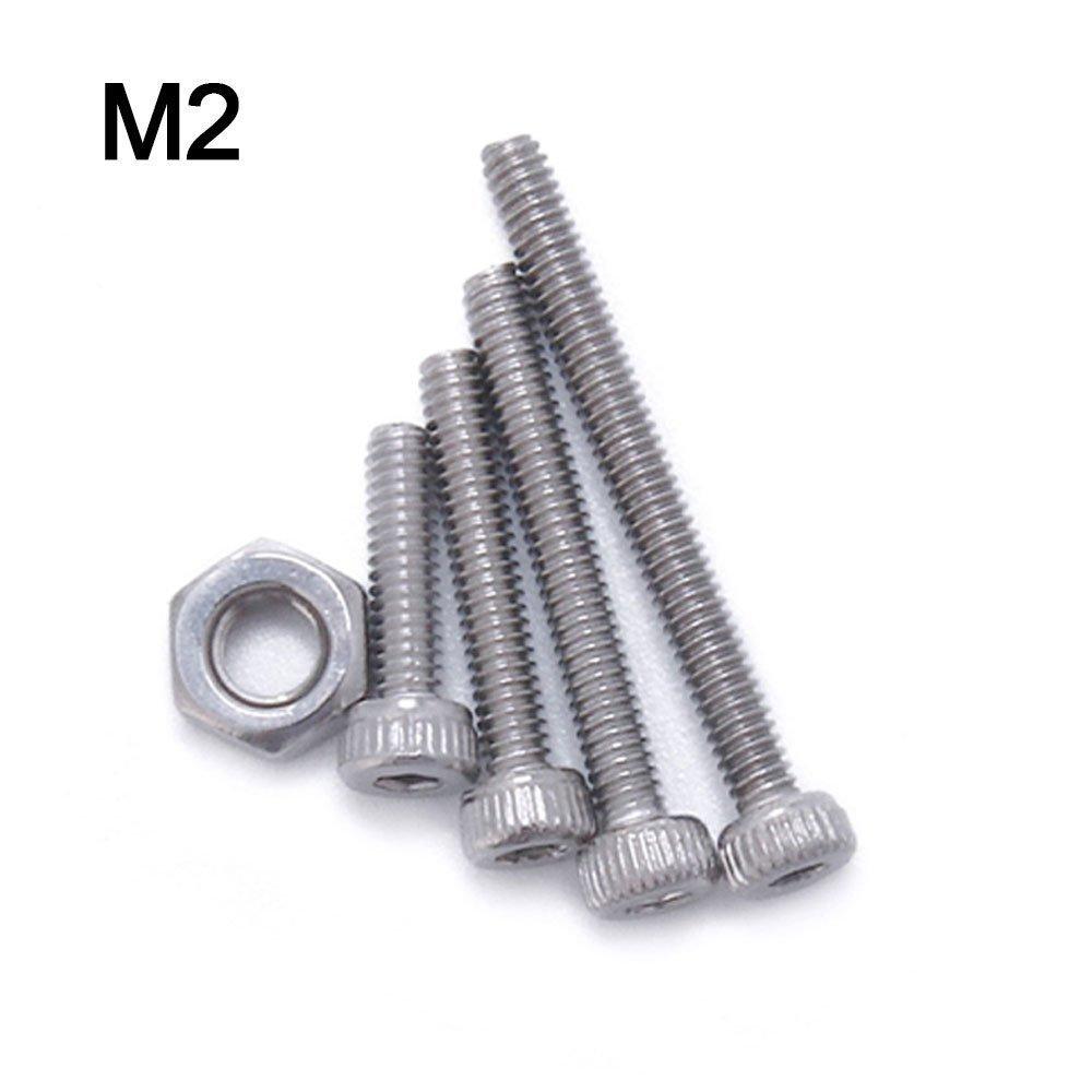 TopDirect 500PCS Schrauben Set M3 M4 M5 Edelstahl Schrauben Muttern Maschinenschrauben Flach Einfa/ßungs Schrauben Muttern