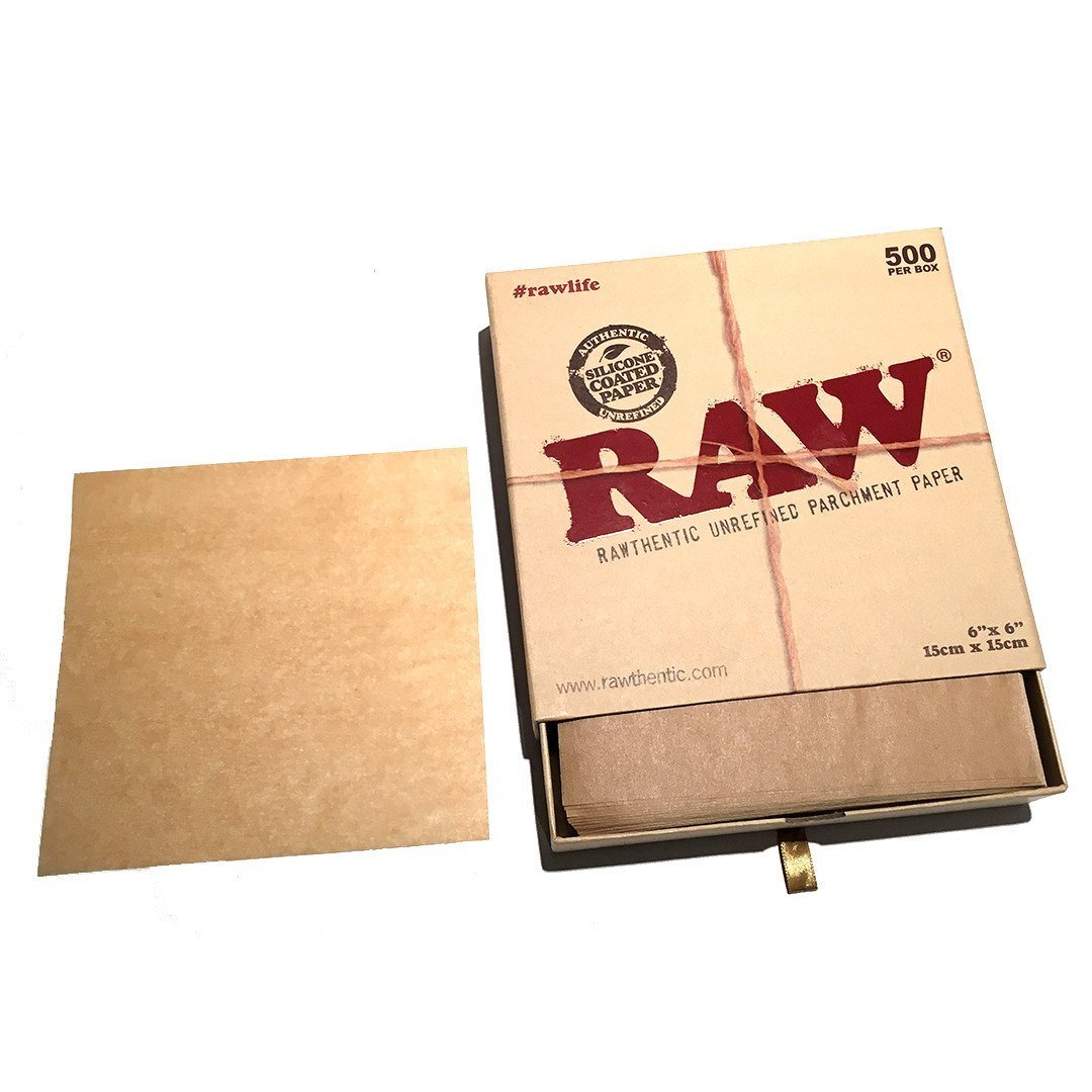 RAW PARCHMENT 6″X6″ SHEETS – 500 PACK THE KORE
