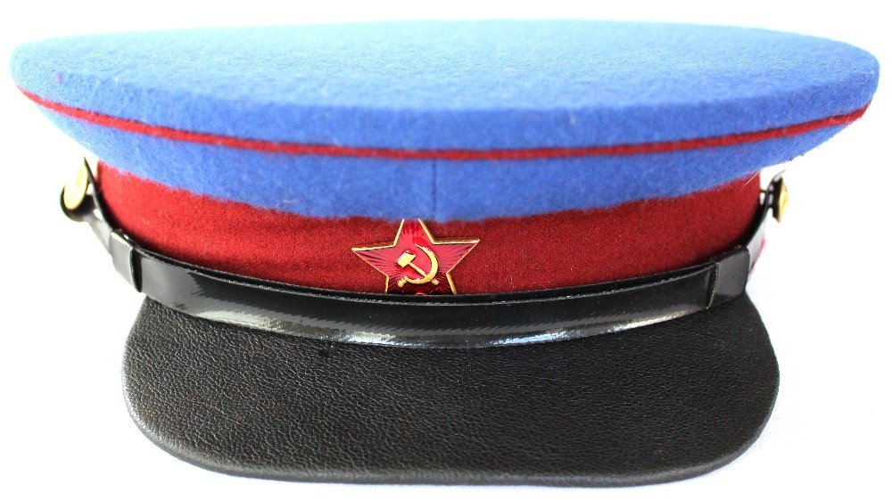 Soviet USSR Old MVD Parade Cap by Soviet USSR Army Navy Air Force KGB Police