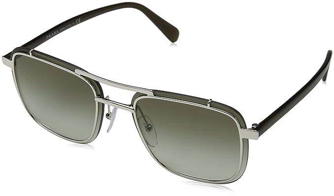 Prada Ray-Ban 1BC4K1 Gafas de sol, Rectangulares, 59, Silver ...