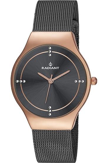 Reloj Radiant para Mujer con Correa Negra y Pantalla en Negro RA404604