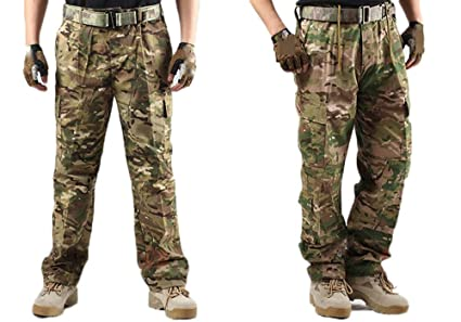 14383a93ba5de OSdream Camo Military Tactical Pants Outdoor Army Hunting (Camo 1, 4XL  Waist 44""