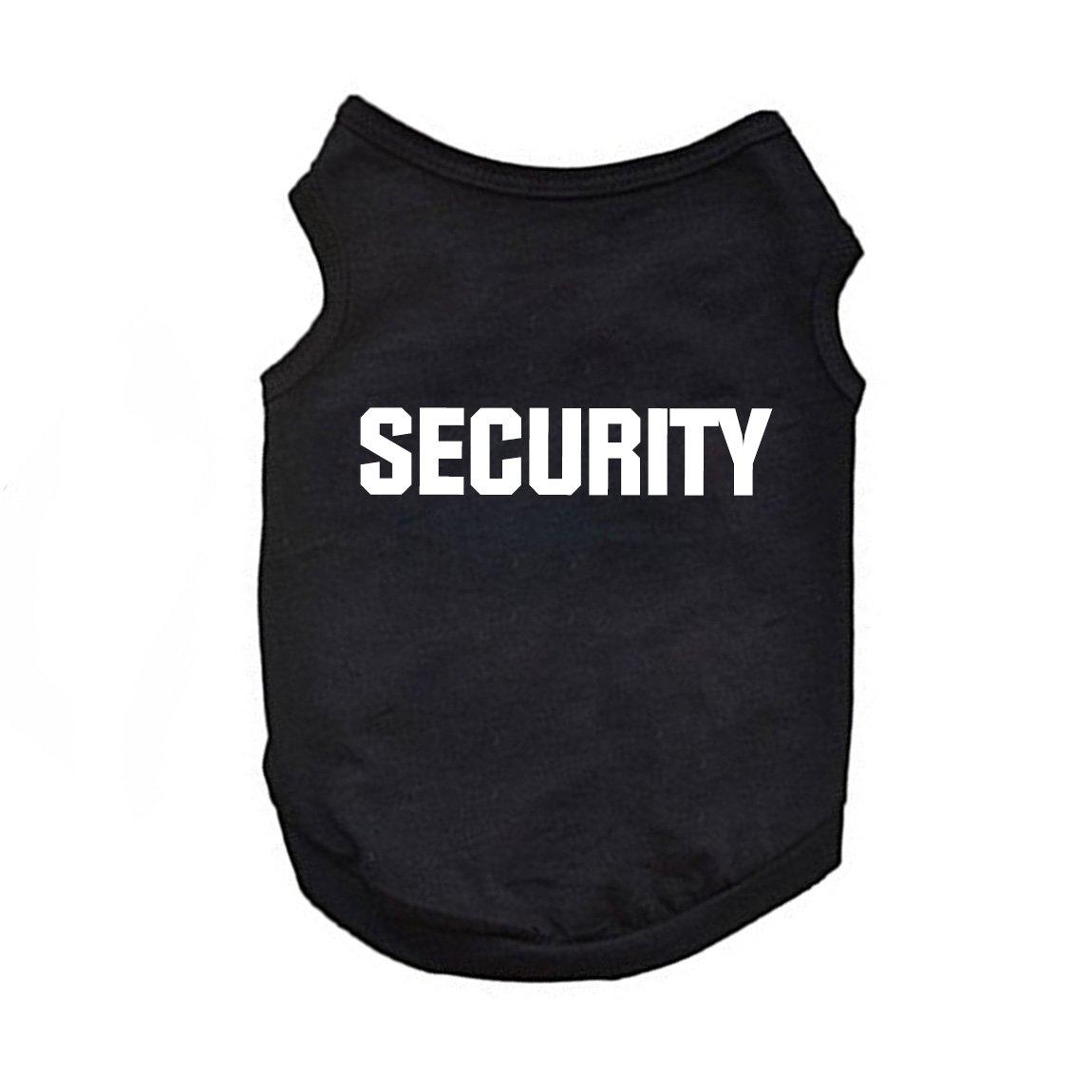 Doggie Style Store Black Security Guard Pet Dog T-Shirt Vest Shirt Top 7 Sizes