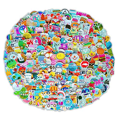 300 PCS Stickers Pack (50-500Pcs/Pack), Colorful Waterproof Stickers for Flask, Laptop, Phone, Water Bottle, Cute Aesthetic Vinyl Stickers for Teens, Girls