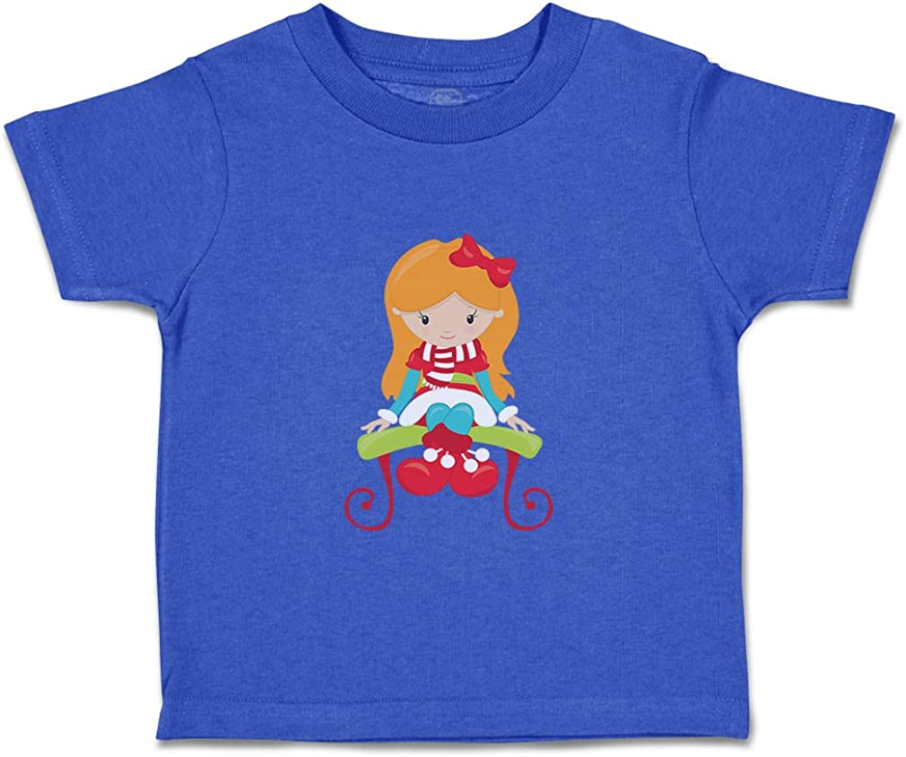 Custom Baby /& Toddler T-Shirt Christmas Girl Red Sits Bench Boy Girl Clothes