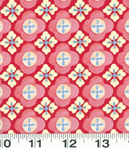 - 1 Yard Suzette by Sue Zipkin from Clothworks Dark Pink Geometric 100% Cotton Quilt Fabric Y0912-43
