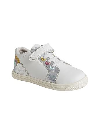 Weiß Vertbaudet 23Amazon Für MädchenAnziehtrick Leder Sneakers FJcK1l