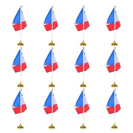 LIOOBO 12 Piezas Francia Bandera Nacional Del País Bandera de ...