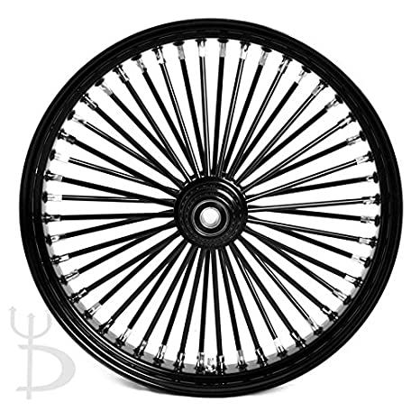 amazon demons cycle 21 x 3 5 black mammoth 48 fat spokes front Bike Hub Parts demons cycle 21 x 3 5 quot black mammoth 48 fat spokes front wheel for harley