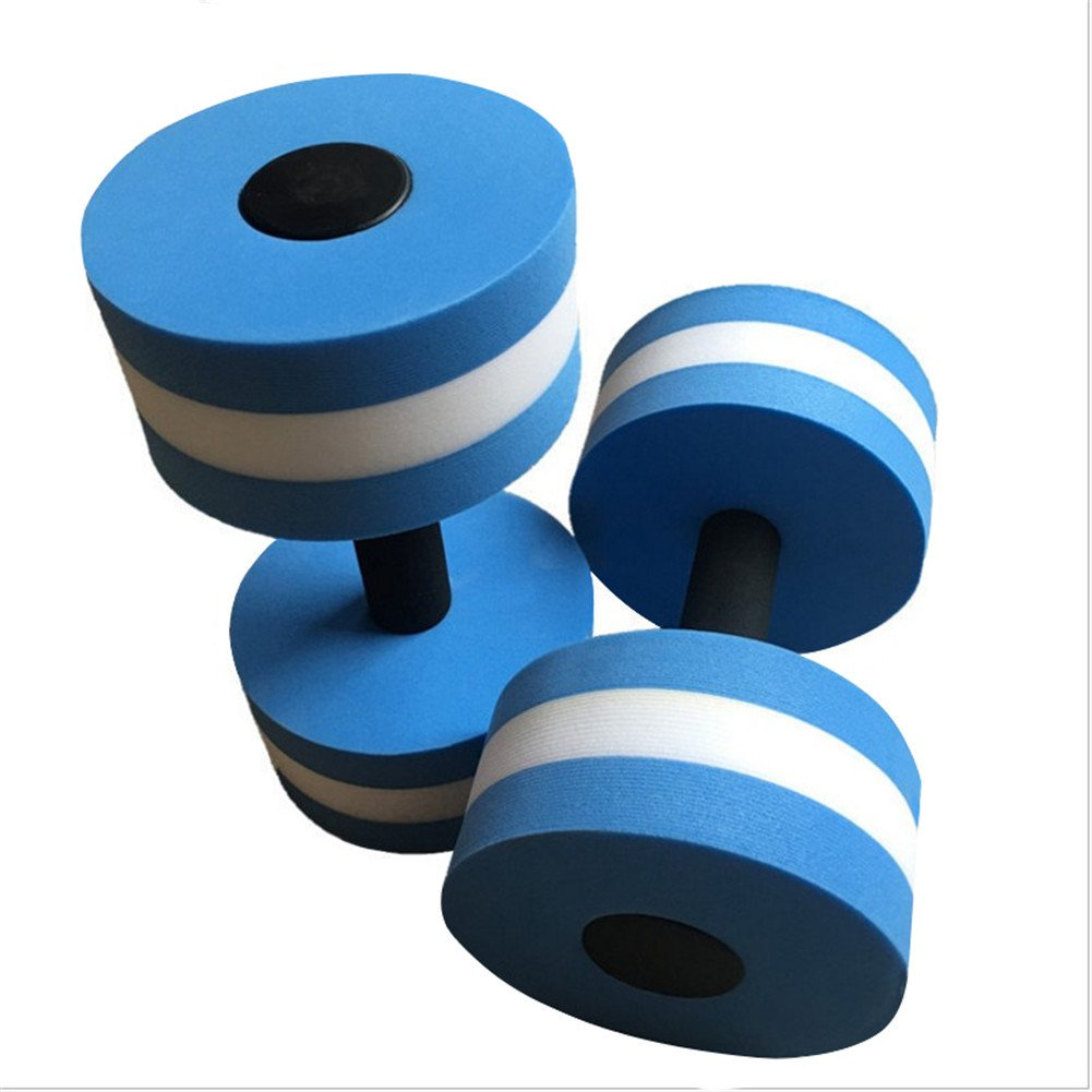 GFEU - Mancuernas de espuma EVA para ejercicio aeróbico de agua, equipo para ejercicios de fitness acuáticos, pérdida de peso, color azul, ...