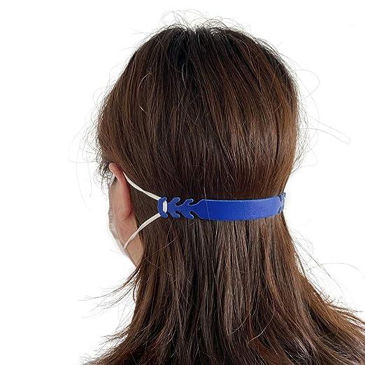Baorio Einstellbare Ohrhalter Seil Multifunktionshaken Mundschutz Haken Lanyard,Portable Gummiband Ohrschutz Gang,DIY Elastische B/änder f/ür Erwachsene Unisex Blau