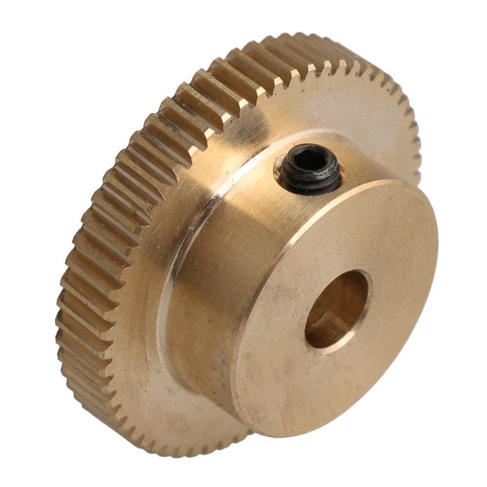Yellow 31x12x6MM 0.5 Modulus Sixty Teech Worm Wheel 31MM Outer Dia
