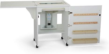 Armario blanco Sewnatra para máquina de coser, 171 x 49¾ x 77½ cm ...