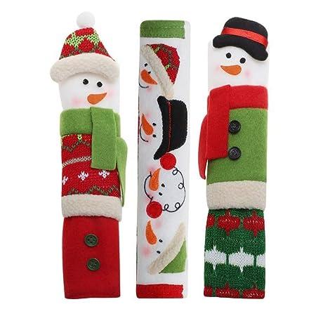 vipith 3 paquetes muñeco de nieve mango de cocina aparato cubre ...